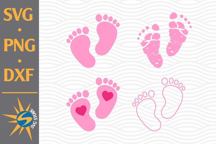 Baby Feet SVG, PNG, DXF Digital Files Include