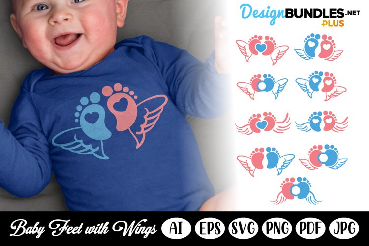 Baby Feet with Wings SVG Set