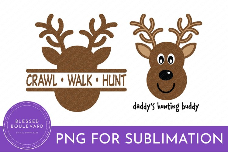 Deer Hunting Sublimation Bundle   Hunting Clipart   Baby PNG