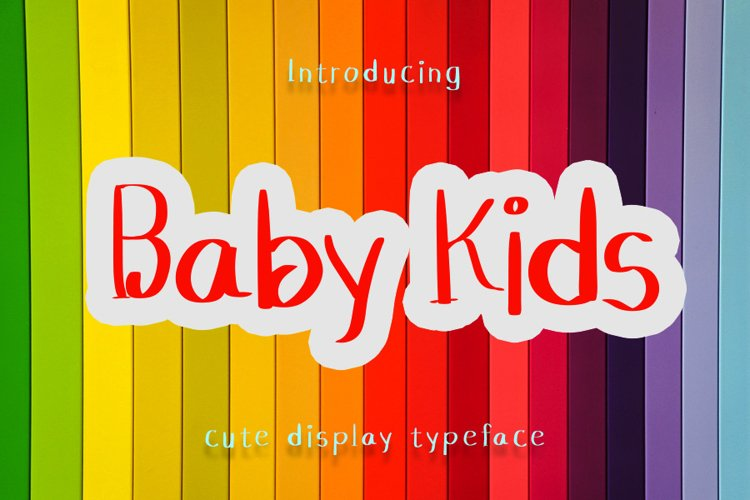 Baby Kids - Cute Display Font