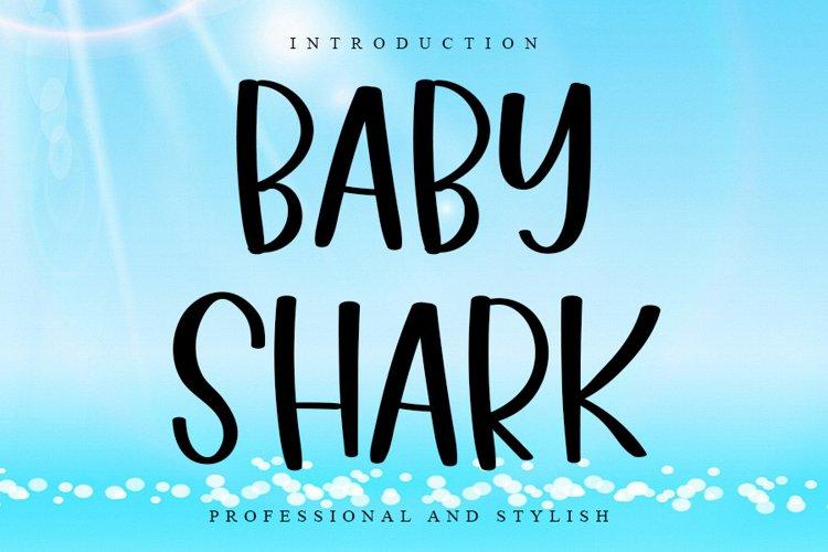 Baby Shark | Cute Handwritten Font example image 1