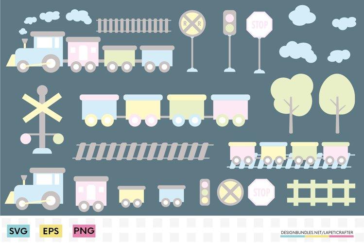 Train SVG for kids   Birthday train and railroad clip art