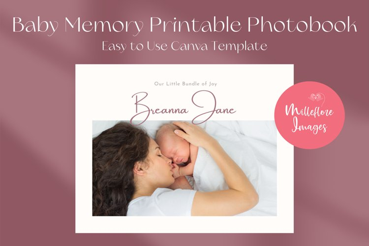Baby Memory Book. Easy to Use Printable Canva Template example image 1