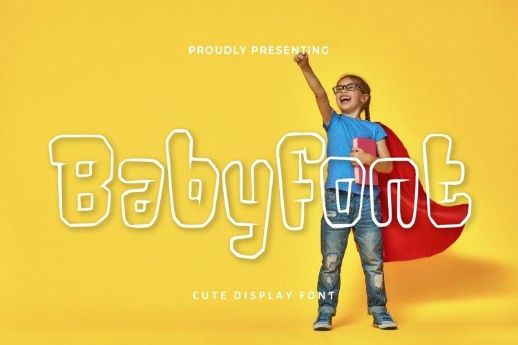 Web Font Babyfont - Kids Display Font example image 1