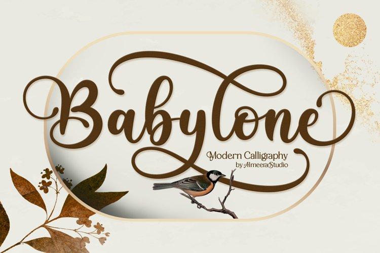 Babylone | Script Font example image 1