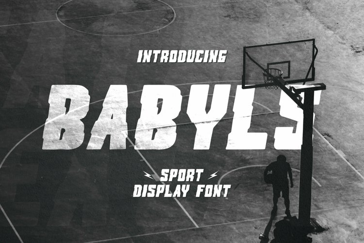 Web Font Babyls Font example image 1