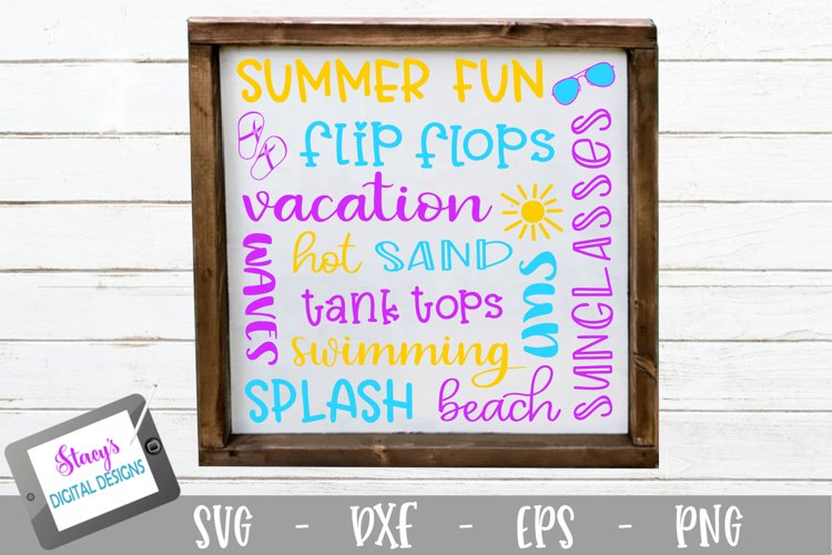 Summer Subway Art SVG - Summer SVG