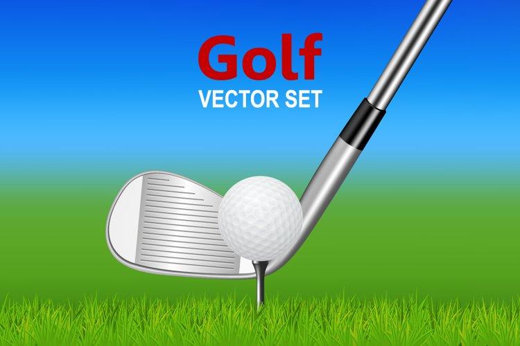Golf illustrations.