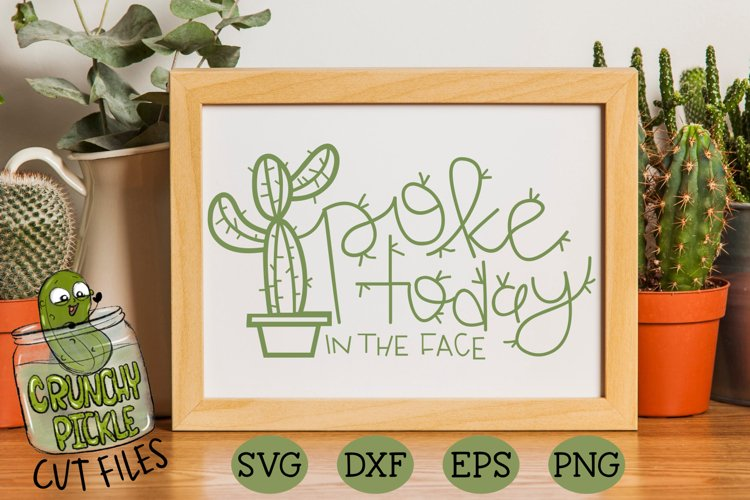 Poke Today In The Face Cactus - A Positive Cactus Pun