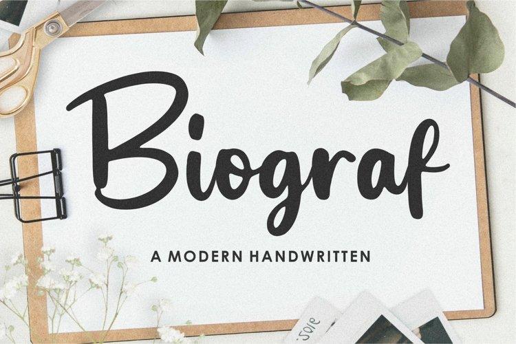Biograf Modern Handwritten Font example image 1