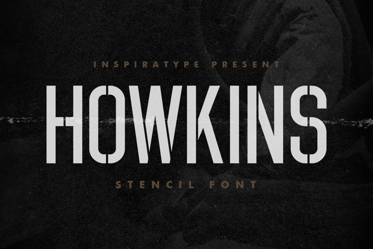 Howkins - Stencil Font example image 1