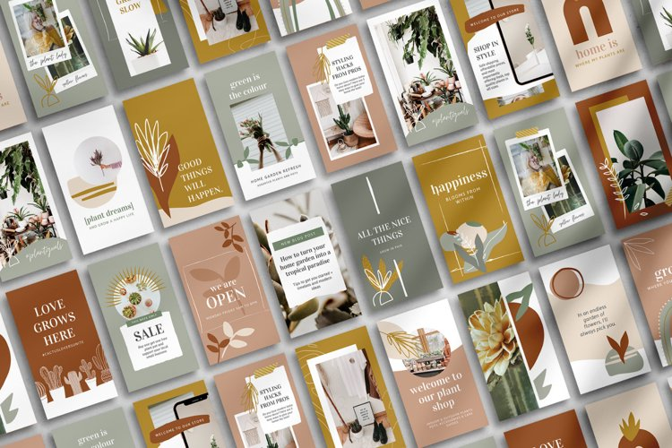 25 Instagram Story Templates made in Canva | Plant Lovers