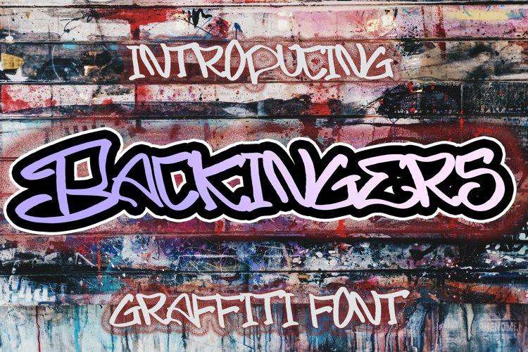BACKINGERS - Graffiti Font example image 1