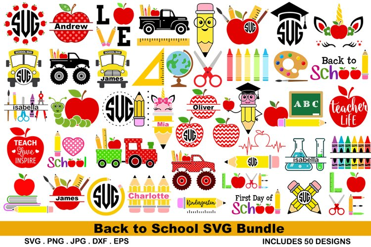 School Bundle svg example image 1