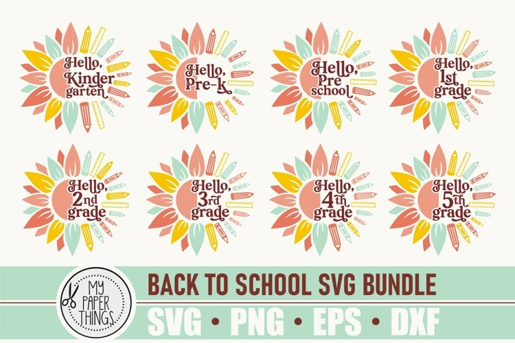 Back to School SVG | First Day of School SVG Bundle