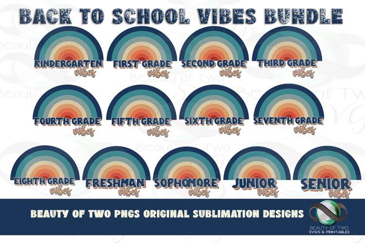 Retro Sublimation Back to School Vibes Bundle Rainbow K-12