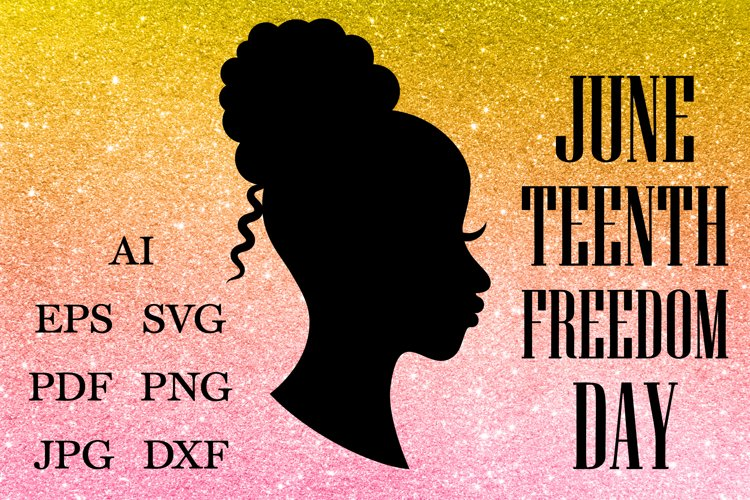 Afro Women Hair SVG, Juneteenth SVG, Black History Month SVG