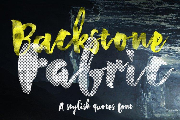 Backstone Fabric Font example image 1