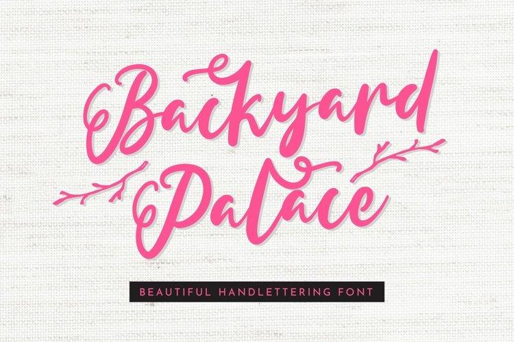 Web Font Backyard Palace - Beautiful Handlettering Font example image 1