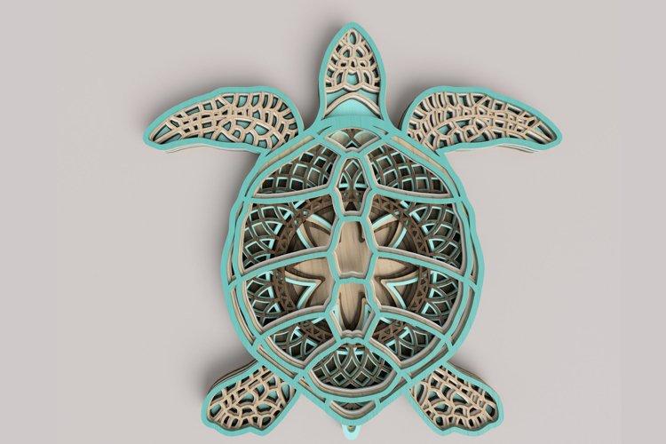 Sea Turtle Mandala Laser Cut File