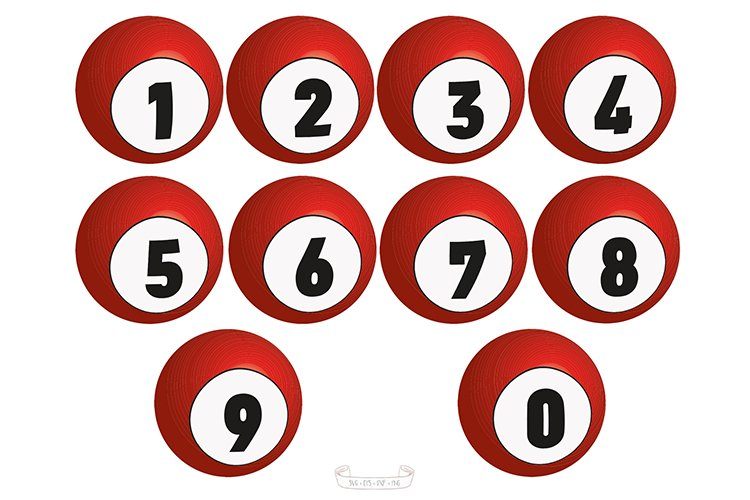 NUMBERS BALLS svg example image 1