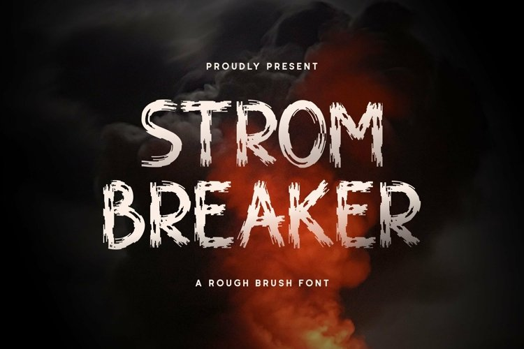 Web Font Strombreaker example image 1