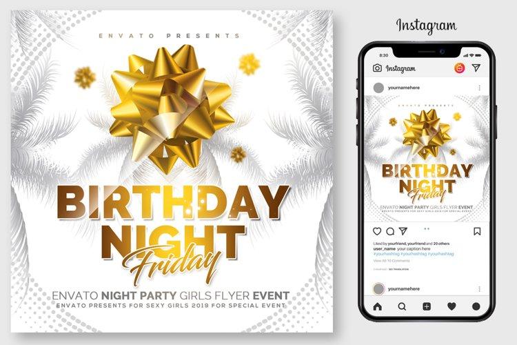 Birthday Night Flyer Template example image 1