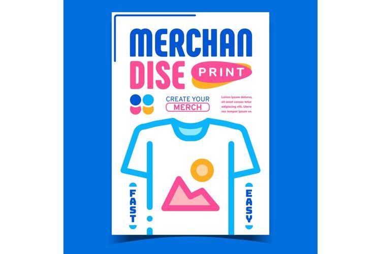 Merchandise Print Creative Advertise Banner Vector example image 1