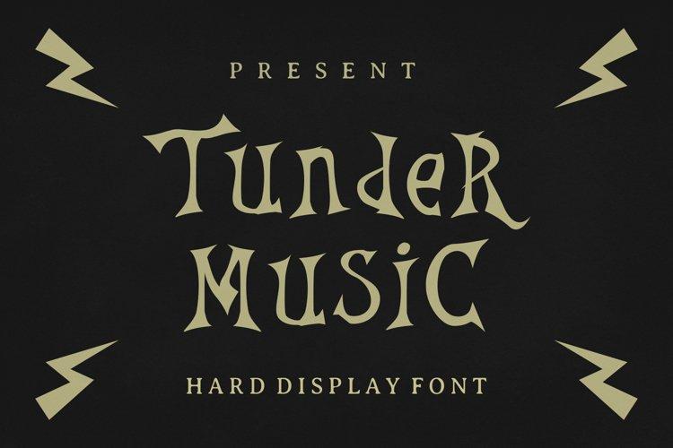 Thunder Music Font example image 1