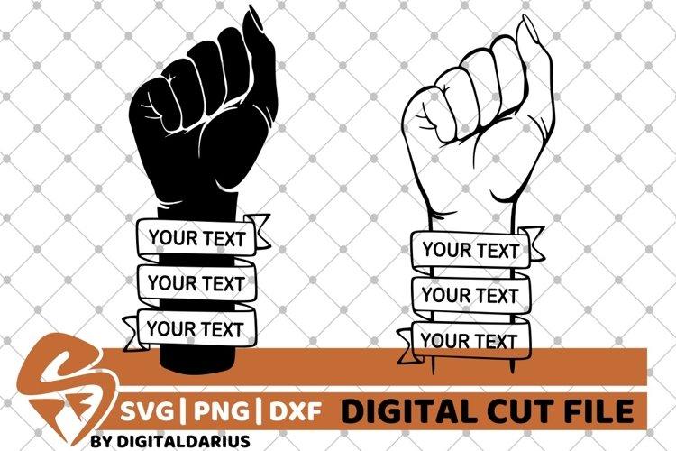 Power Fist With Your Text Svg Punch Monogram Black Man 656044 Cut Files Design Bundles