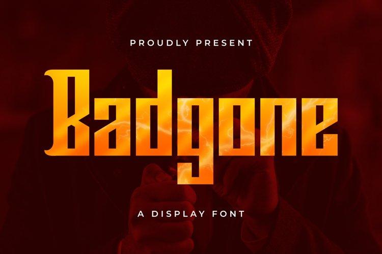 Badgone Font example image 1