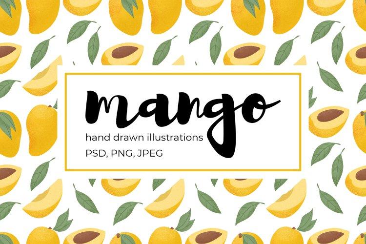 Mango hand drawn illustrations example image 1
