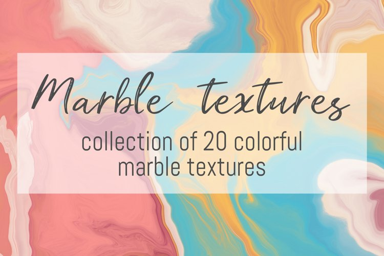 Colorful marble textures bundle example image 1