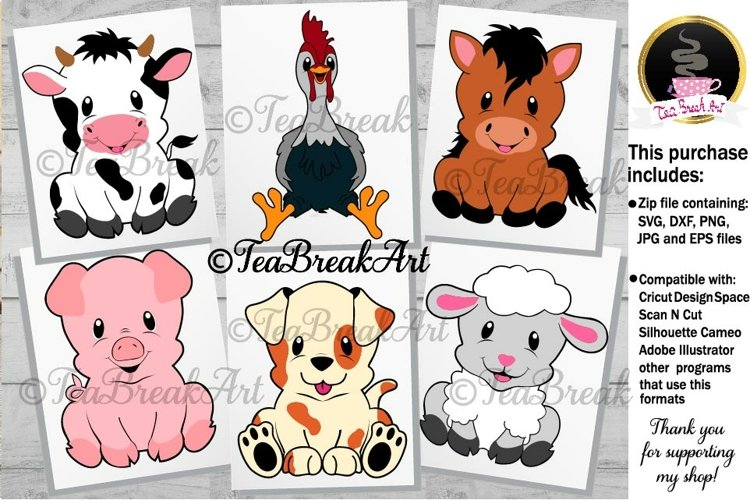 Cute Farm Animals Cutting Files 1116