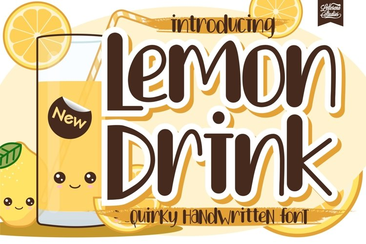 Lemon Drink - Quirky Handwritten Font example image 1
