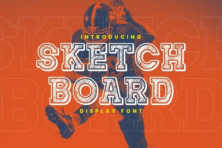 Sketchboard Font example image 1