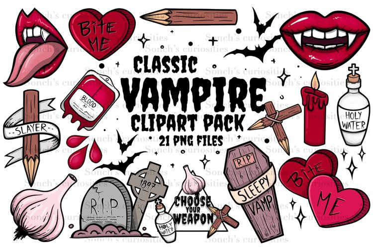 Vampire Clipart - Goth high resolution png files