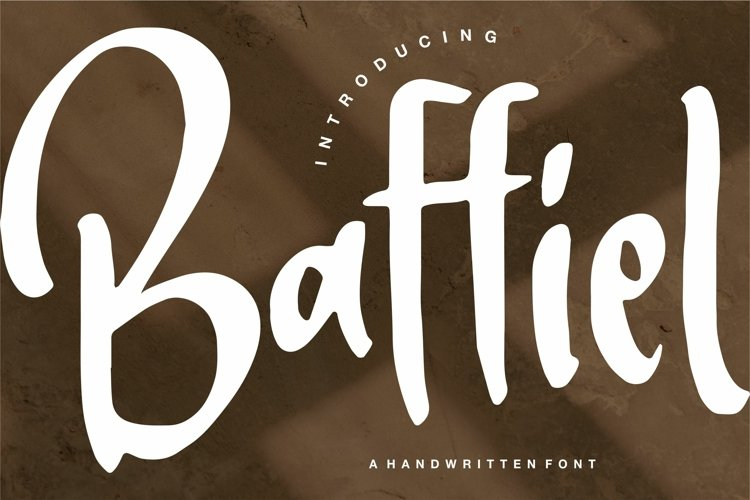 Baffiel - A Handwritten Font example image 1