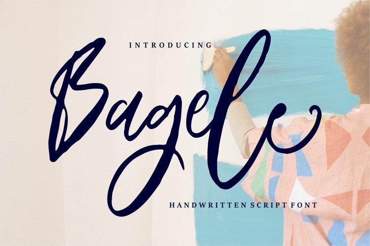 Bagele - Handwritten Script Font example image 1
