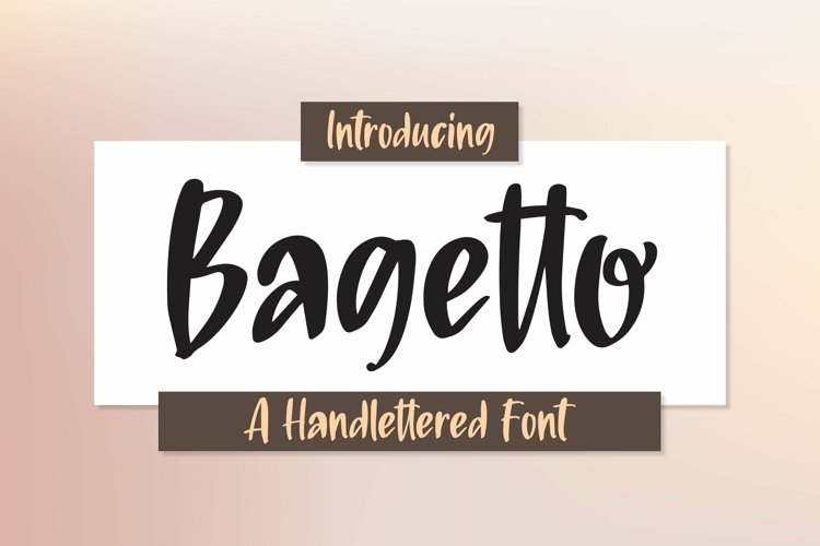 Web Font Bagetto - A Handlettered Font example image 1