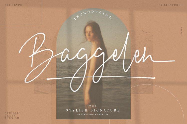 Baggelen - Stylish Signature Fonts