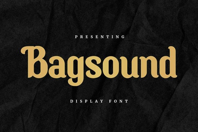 Web Font Bagsound - Display Font example image 1