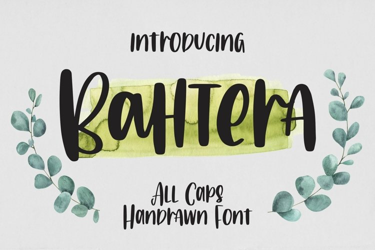 Web Font Bahtera - All Caps Handrawn Font example image 1