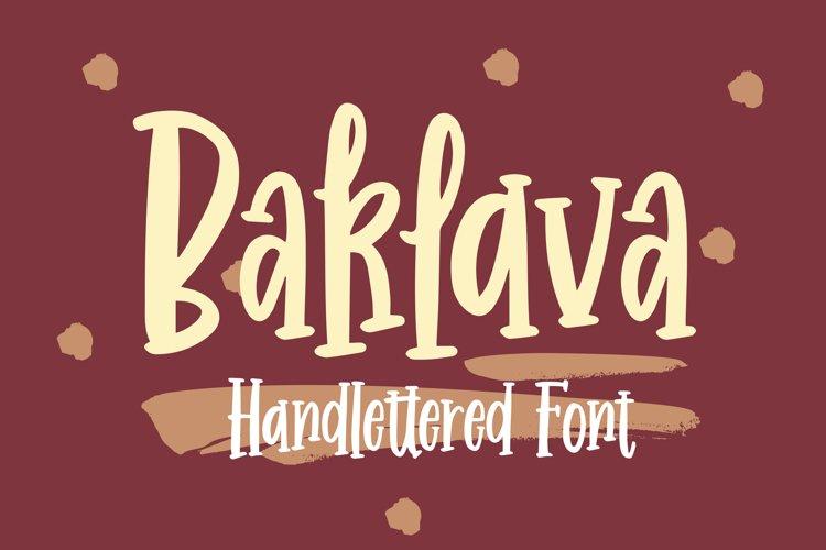 Baklava - Handlettered Font example image 1