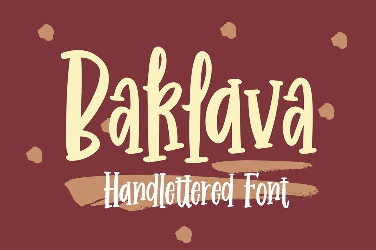 Web Font Baklava - Handlettered Font example image 1