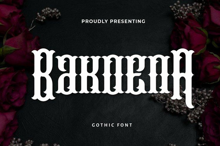 Web Font BakoenA - Blackletter Font example image 1