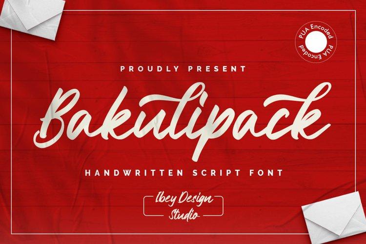 Bakulipack - Handwritten Script Font example image 1