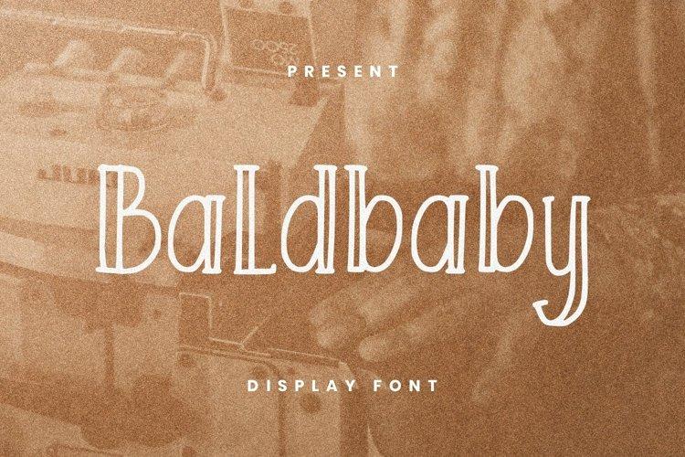 Web Font Baldbaby Font example image 1