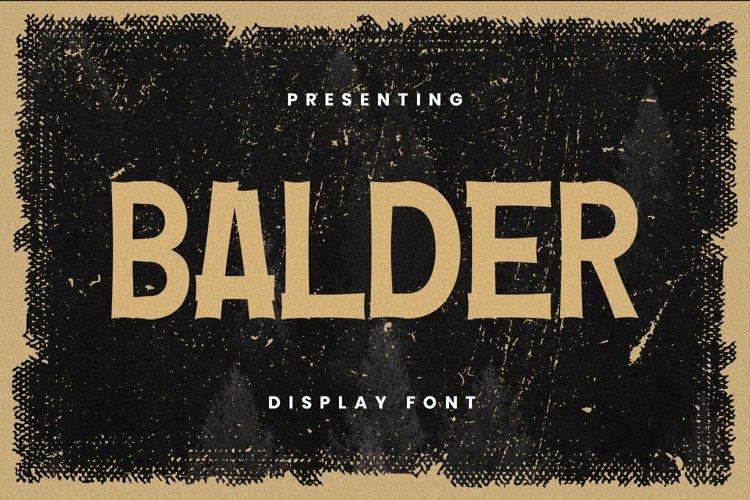 Web Font Balder Font example image 1