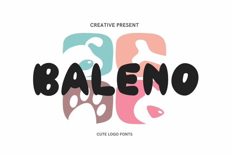 Web Font Baleno Font example image 1